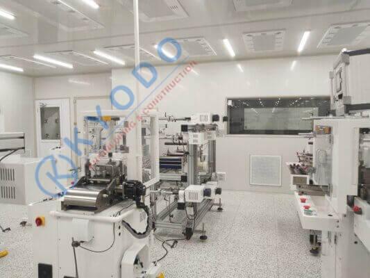 Phòng sạch điện tử class 1000
