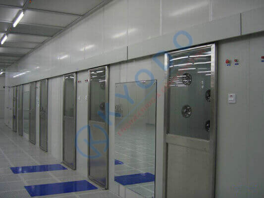 Air shower cửa trượt - 2 cánh